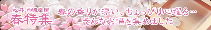 松井酒舗 春のおすすめお酒特集